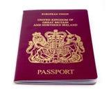 paszport uk Zdjęcie Stock
