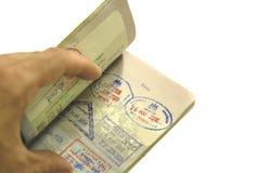 paszport świat Fotografia Stock