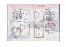 paszporta znaczków stan podróż jednoczył Zdjęcia Royalty Free
