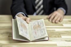 Paszportowa kontrola Fotografia Royalty Free