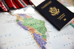 Paszportowa podróż zdjęcie stock