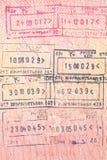 paszportowi znaczki Obrazy Royalty Free