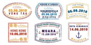 paszportowi znaczki Obrazy Stock