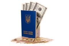 paszportowy Ukraine Fotografia Stock