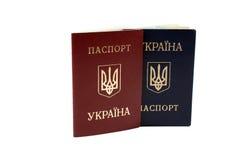 paszporty ukraińscy Obrazy Royalty Free
