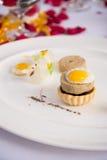 Pasztet z gęsich wątróbek naczynia jedzenie z gotowanym jajkiem Zdjęcie Stock