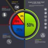 Pasztetowa mapa - biznesowe statystyki z ikonami Zdjęcia Royalty Free