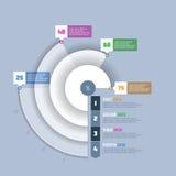 Pasztetowa mapa, okręgu wykresu infographics element Fotografia Royalty Free