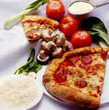 pasztetowa pizza fotografia royalty free
