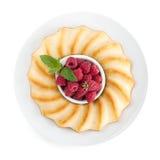 Pasztetowe na talerzu świeże jagody Obraz Stock