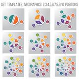 Pasztetowej mapy diagrama infographics dla biznesowego przeciwu Fotografia Stock