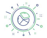 Pasztetowej mapy linii ikona Prezentacja wykresu znak wektor ilustracji