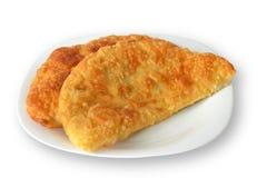 Patè con il piatto nazionale caucasico della carne isolato su fondo bianco Fotografie Stock