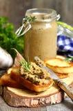 Patè dal fegato e dalle verdure del manzo Immagine Stock Libera da Diritti