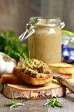 Patè dal fegato e dalle verdure del manzo Immagine Stock