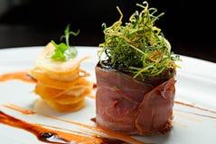 Patè del coniglio al forno in bacon Fotografia Stock