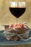 Patè della carne Rillettes de Canard dell'anatra Immagine Stock Libera da Diritti