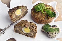 Patè della primavera (o riempimento della torta di carne) Immagini Stock