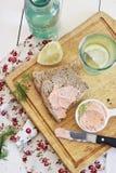 Patè di color salmone Immagini Stock Libere da Diritti