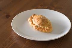Patè di verdure al forno su un piatto bianco Immagini Stock Libere da Diritti
