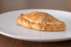 Patè di verdure su un piatto bianco Fotografia Stock Libera da Diritti