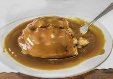 Patè dorato con Gravyn immagini stock
