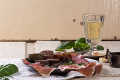 Patè e carne Fotografie Stock
