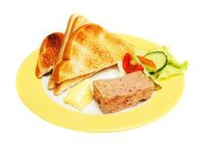 Patè e pane tostato Fotografia Stock Libera da Diritti