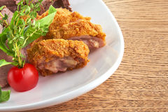 Patè e rotolo del pollo Immagine Stock