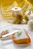 Paté op Kerstmislijst Royalty-vrije Stock Foto