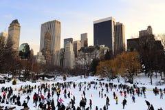 Patín de hielo de New York City Central Park Fotografía de archivo