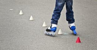 Patín de ruedas del niño Fotografía de archivo