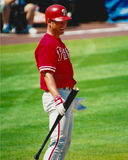 Pat Burrell Philadelphia Phillies questions an umpires call. Royalty Free Stock Photos
