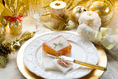 Paté on christmas table Stock Photography