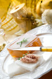 Paté on christmas table Royalty Free Stock Images