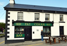 Pat Cohan Bar. CONG, IRELAND - MAY 18, 2011: Pat Cohan Bar. The bar was forever immortalized in the 1952 Academy Award nominated film The Quiet Man Royalty Free Stock Image