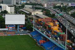 PAT Football-Stadionsvogelperspektive Lizenzfreie Stockfotos