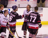 Pat LaFontaine & Guy LeFleur, play in a charity hockey game. Royalty Free Stock Photography