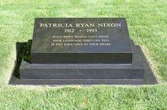Pat Nixon Headstone foto de archivo libre de regalías