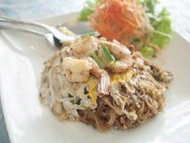 Pat Thai, nourriture populaire, épicée, nourriture de la Thaïlande Photographie stock libre de droits