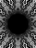 Pat2 bw. Black and white pattern with black hole in the middle Stock Image