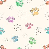Pata del perro - modelo lindo de los seamles ilustración del vector