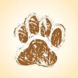 Pata do cão Fotos de Stock Royalty Free