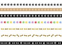 A pata imprime a beira/divisor Imagens de Stock Royalty Free
