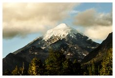 Patagônio Volcano Lanin foto de stock royalty free