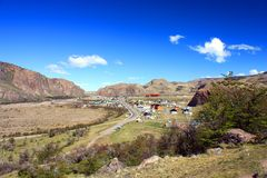 Patagonia. View over town of El Chalten in Patagonia, Argentina Stock Photography