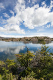 Patagonia alpine lake in the Chilean mountains Royalty Free Stock Photos