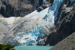 Patagonia Andes mountain glacier Royalty Free Stock Photo