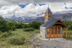 Patagonia Argentina della cappella Immagine Stock Libera da Diritti