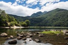 Patagonia Argentina för chubut för Los-alercesnationalpark arkivbilder